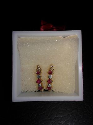 Ruby Hoop Earrings for Sale in Rainier, WA