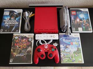 Red Nintendo Wii Special Mario Edition! for Sale in Las Vegas, NV