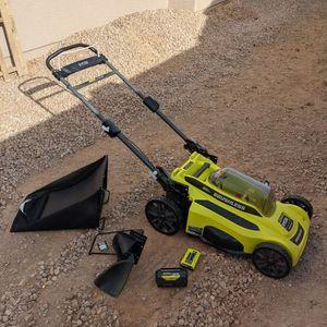 Ryobi 20 Inch Brushless- 40v Battery Mower for Sale in Surprise, AZ
