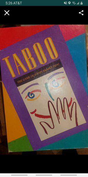 Taboo board game for Sale in Colton, CA