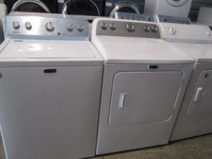 Maytag washer and dryer electric oversize capacity for Sale in Euless, TX