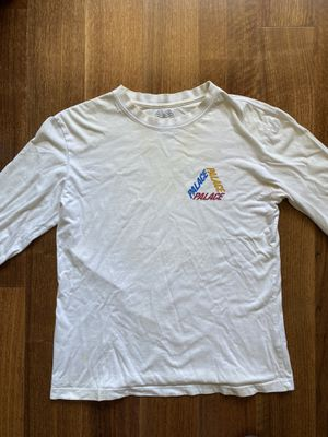 Palace Tri-Ferg White Long-Sleeve Shirt for Sale in San Jose, CA