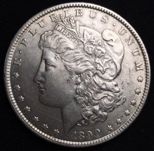Very HIGH GRADE 1890 P Morgan Silver Dollar - AU/Uncirculated for Sale in Geneva, IL
