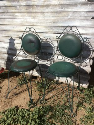 Set of antique ice cream parlor chairs for Sale in Lafayette, CO