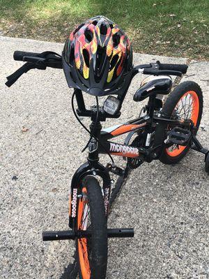 """Mongoose 16 """" BMX bike with Schwinn helmet for Sale in Troy, MI"""