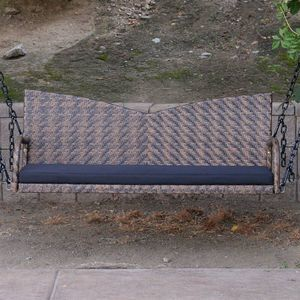 "Espresso 52"" Patio Porch Swing Chair Wicker Tree Ceiling Hanging Chain for Sale in El Monte, CA"