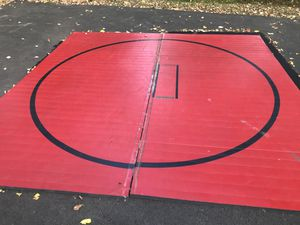 12 X 12 wrestling mat. 2 pieces. Rolls up. Light weight for Sale in Farmingdale, NJ