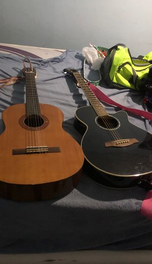 Two guitars. One is classic the other is electric for Sale in Hialeah, FL