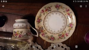ANTIQUE GOLD CASTLE CUP & SAUCER SET for Sale in Florence, MS