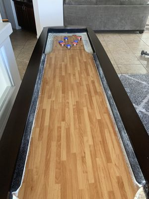 SHUFFLEBOARD - Full size shuffle board table perfect for game room man cave. High quality! Solid wood. More fun than pool table / darts for Sale in Las Vegas, NV