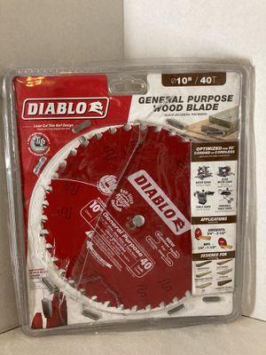 DIABLO 10 in. x 40-Teeth General Purpose Saw Blade for Sale in Juniper Hills, CA