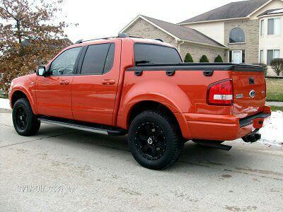 2007 Ford Explorer Trac Sport Orange