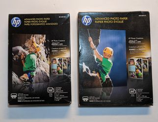 2 HP Advanced Photo Paper 4 X 6 Glossy 100 sheets + 5 X 7 Glossy 60 Sheets New for Sale in Lewisville,  TX