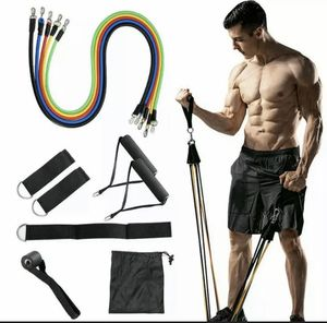 11 pc Resistance bands/tubes with handles and storage bag for Sale in Miami, FL