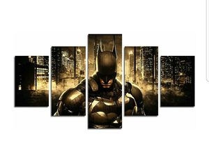 5 Piece Batman DC Comics Superhero painting for living room home decor Canvas art wall poster (No Frame) for Sale in Los Angeles, CA