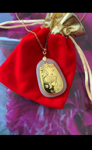 24K gold necklace - handmade- Aries for Sale in Santa Monica, CA