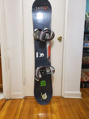 Burton Snowboard with Burton Bindings and Helmet for Sale in Queens, NY