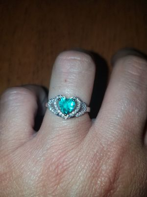 Sterling silver sapphire ring size 7 for Sale in Baltimore, MD