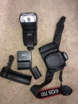 Canon 70D Body + Accessories for Sale in Smyrna, GA