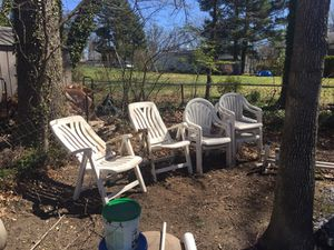 7 plastic chairs one price for Sale in Rockville, MD