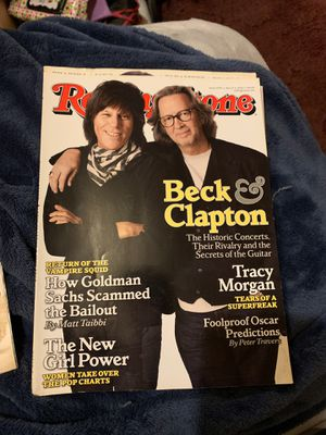 Rolling Stone Beck & Clapton cover for Sale in Avis, PA
