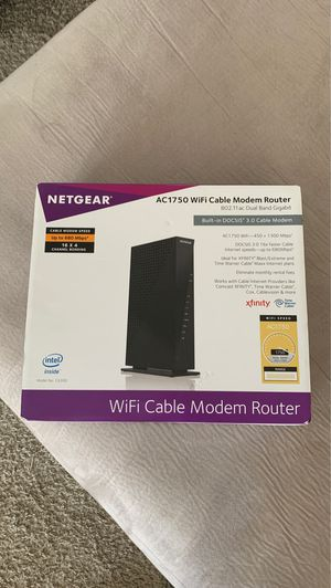 Ac1750 WiFi Cable Modem Router for Sale in Addison, TX