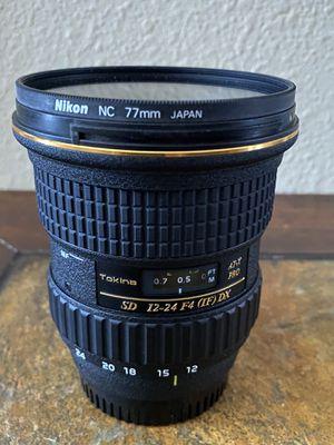 Tokina 12-24 mm Nikon mount lens for Sale in Lakeland, FL