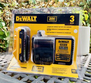 DEWALT 20-Volt MAX Lithium-Ion Battery Pack 3.0Ah with Charger for Sale in San Antonio, TX