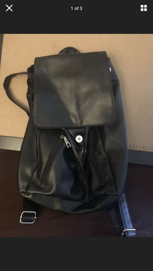 Under One Sky Black Backpack Leather Women's Purse for Sale in Fallbrook, CA