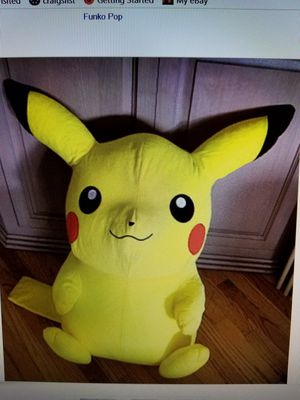 "GIANT 32"" PIKACHU LIFE SIZE YELLOW STUFFED TOY POKEMON for Sale in Venice, CA"
