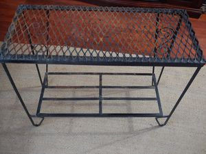 Wrought Iron Side Table for Sale in Raleigh, NC