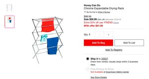 Chrome Expandable Drying Rack for Sale in Washington, DC
