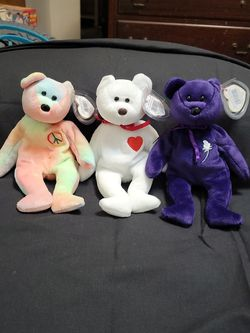 Ty Beanie Babies (Valentino,Princess,Peace for Sale in Asheville,  NC