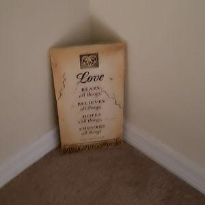 1 Corinthians 13:7 Wooden Plaque for Sale in Sanford, FL