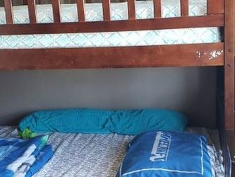 Bunk Bed With Stairs Twin On Top Full On The Bottom. for Sale in Queens,  NY