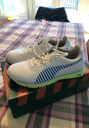 PUMA GOLF SHOES SNEAKERS WHITE LEATHER 8.5 for Sale in Rockville, MD