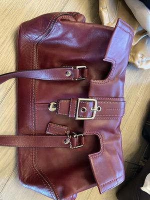 Coach red leather purse for Sale in Katy, TX