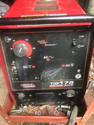 Lincoln square wave 175 welder ac/dc tig stick for Sale in Manassas Park, VA
