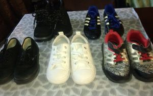 Vans converse Reebok size 9 sketchers boots adidas cleats size 10 kids for Sale in Chula Vista, CA
