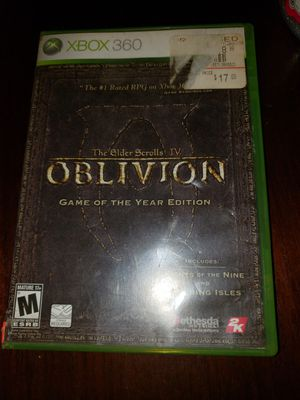 Xbox live 360 Elder Scrolls IV Oblivion Game of the Year for Sale in Chambersburg, PA