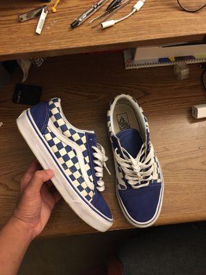Vans blue checkered board for Sale in Smyrna, TN