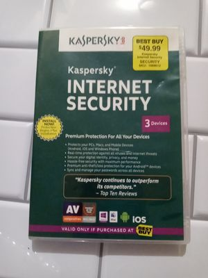 Kapersky Internet Security 2020| 3 Devices (un-used) for Sale in Puyallup, WA