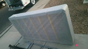 Metal bed frame and Box Spring both in great condition for Sale in Mesa, AZ