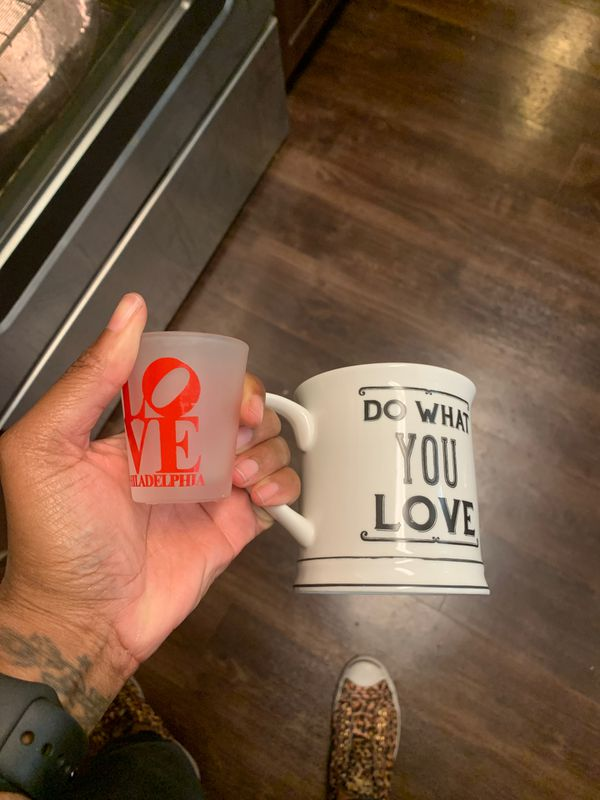 Free coffee cup and shot glass to home