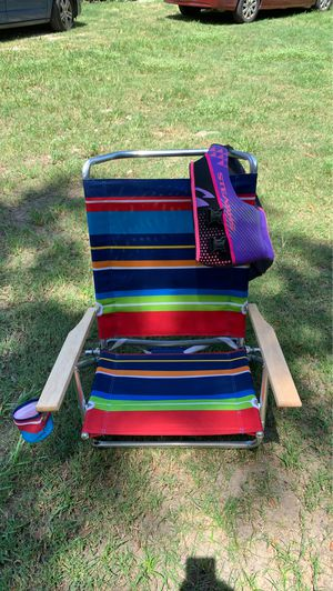 Beach chair with life jacket for Sale in Gibsonton, FL