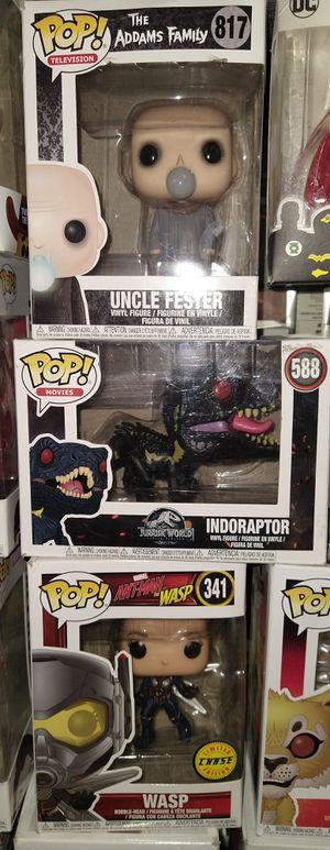 Funko Pop: Uncle Fester 817; Indoraptor 588; Wasp 341 for Sale in El Paso, TX