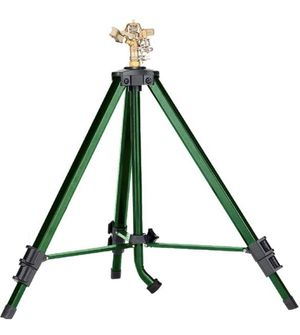 Tripod based sprinkler sprays up to 90' adjustable height & spray New for Sale in Amherst, OH