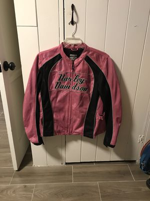 Pink Harley Davidson motorcycle jacket size XL for Sale in Arcadia, CA