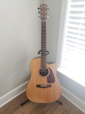 Fender Acoustic Electric w/ stand (like new) for Sale in Smyrna, GA