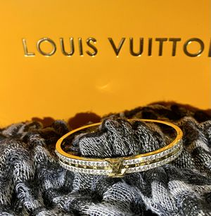Gorgeous Gold Plated L*V* Bangle Bracelet for Sale in Perris, CA